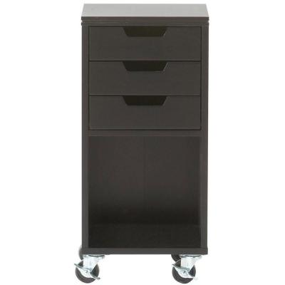 Home Decorators Avery 13 in. W 3-Drawer MDF Single Bin Mobile Cart