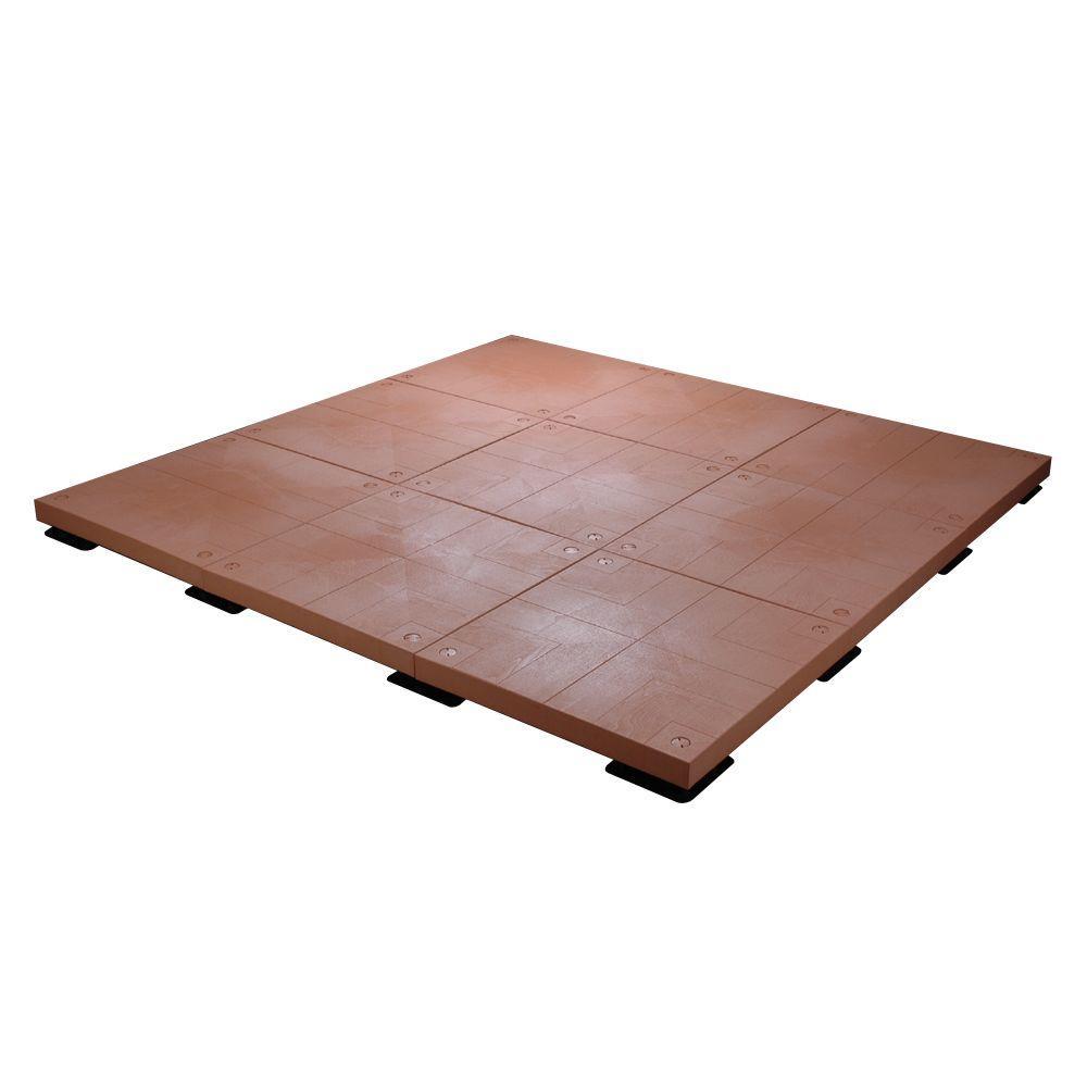 UDECX 10 ft. x 10 ft. 100 sq. ft. Red Cedar Patio Deck Starter Kit