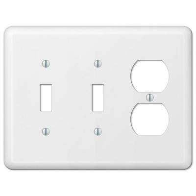 Devon 2 Toggle 1 Duplex Wall Plate - White