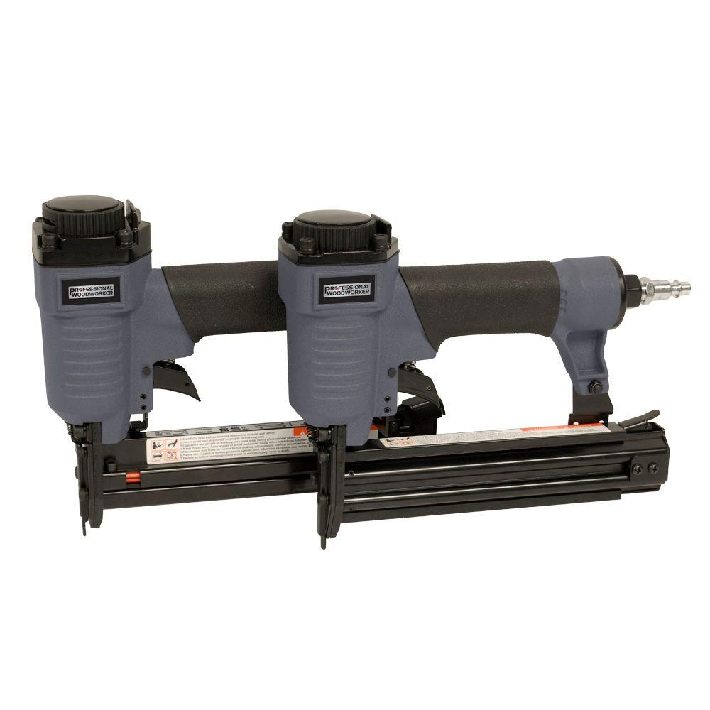 Professional Woodworker 1-1/4 in. x 18-Gauge Brad Nailer and Narrow Crown Stapler Combo Kit