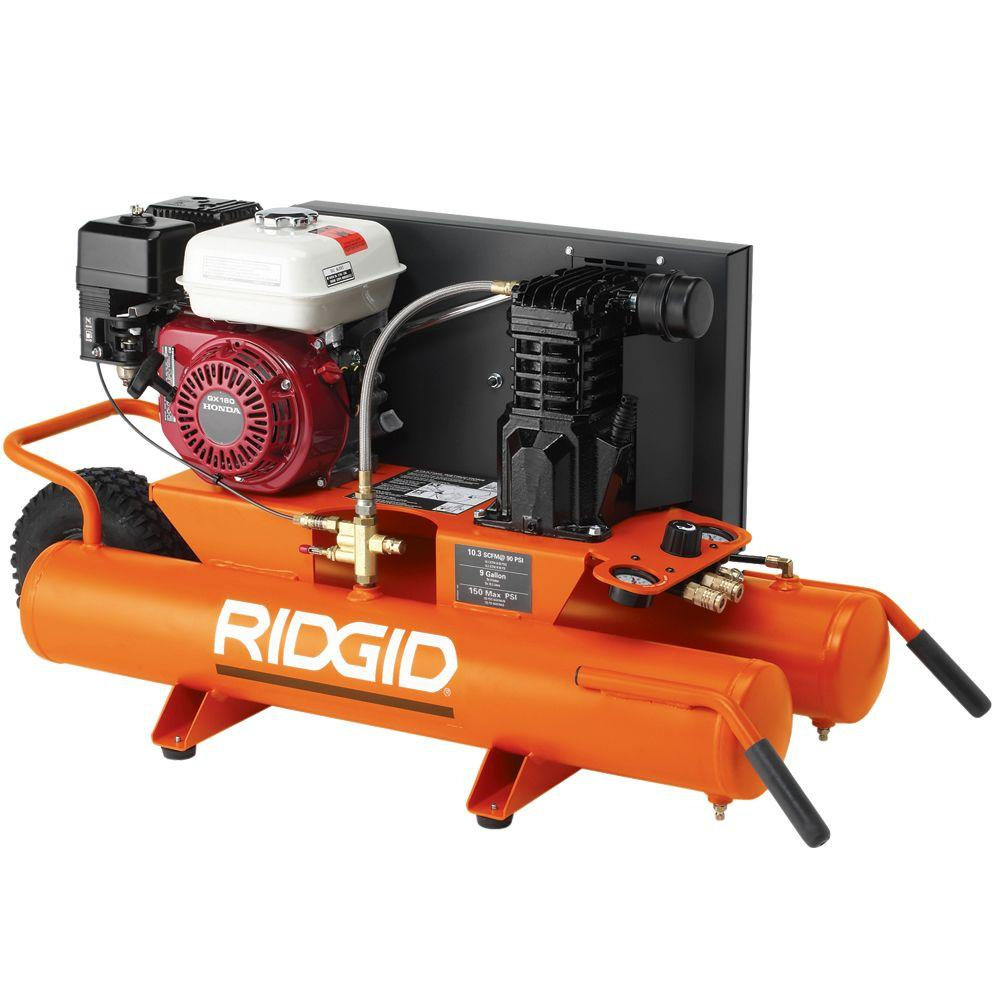 RIDGID 9-Gal. Portable Gas Air Compressor-DISCONTINUED