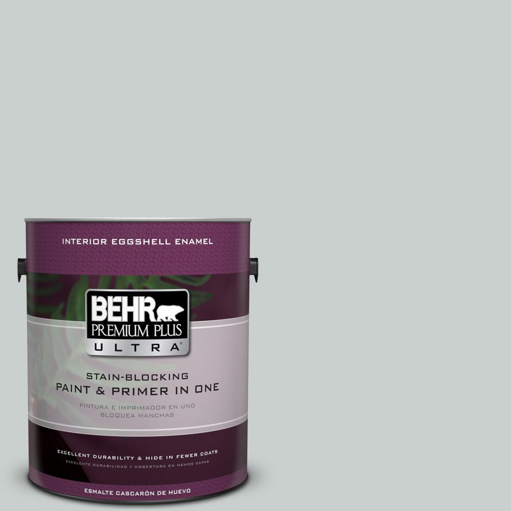 1 gal. #HDC-MD-06G Sparkling Silver Eggshell Enamel Interior Paint