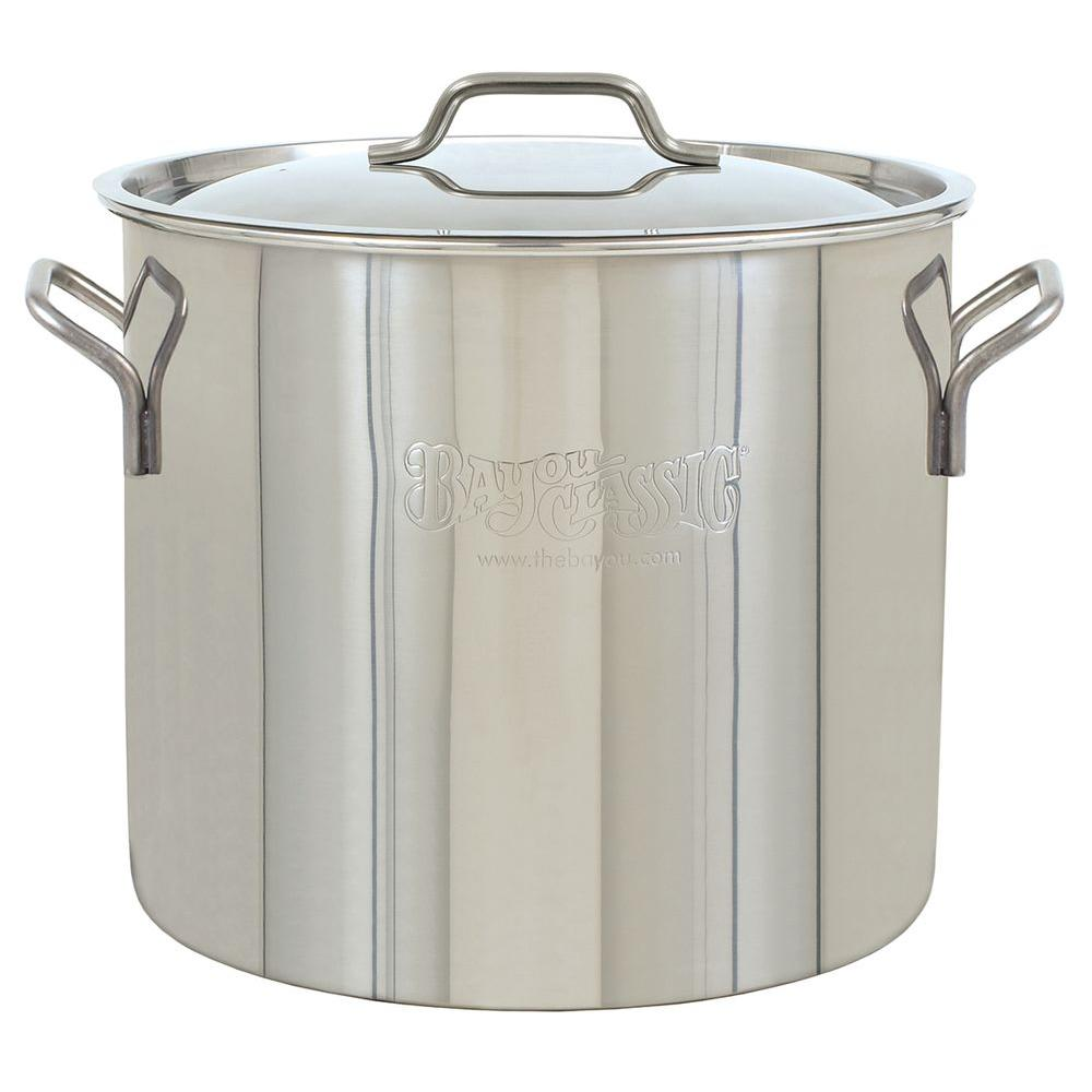 Bayou Classic 30 Qt Brew Kettle Stainless Steel Stockpot 1430 The