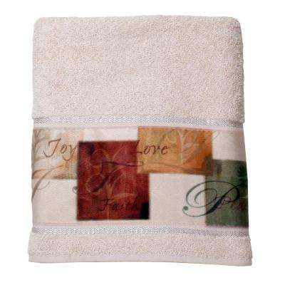 Tranquility Cotton Bath Towel in Natural