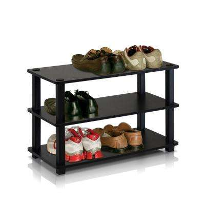 Turn-S-Tube Espresso 3-Shelf Multipurpose Rack