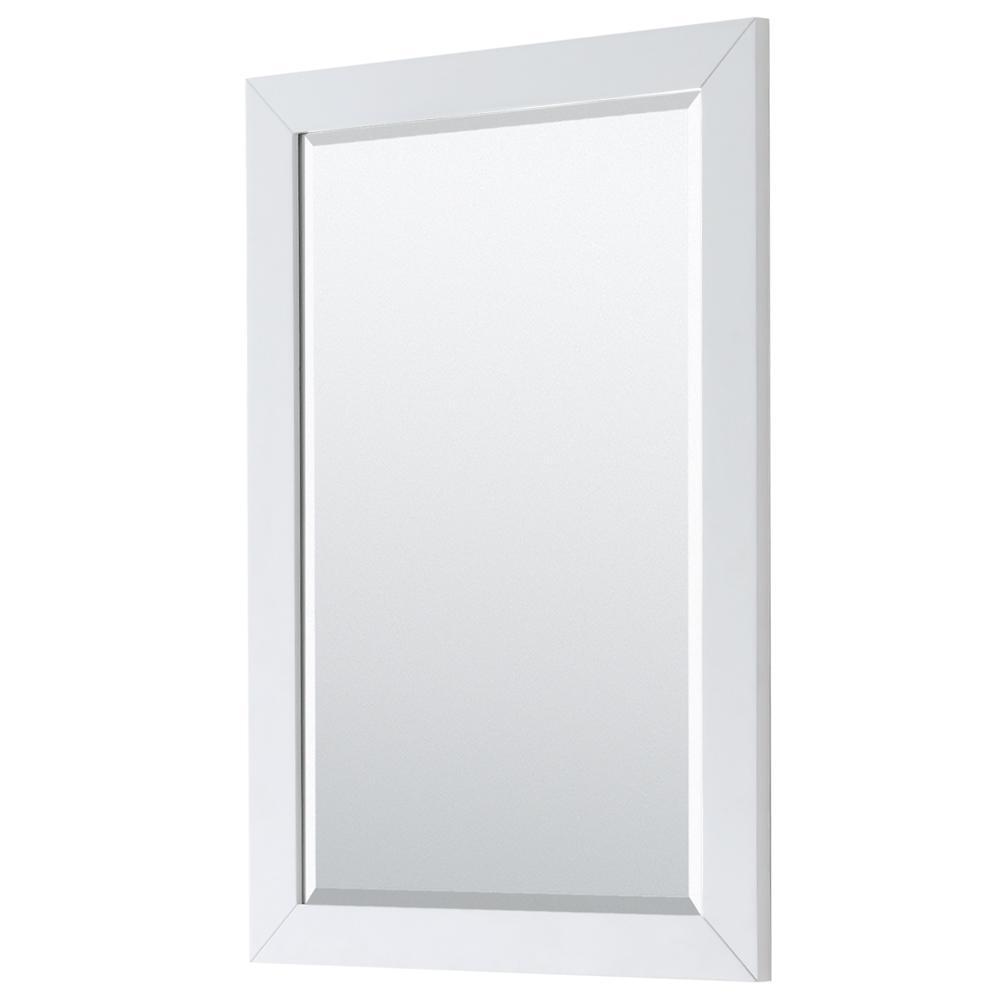 Daria 24 in. W x 36 in. H Framed Rectangular Bathroom Vanity Mirror in White