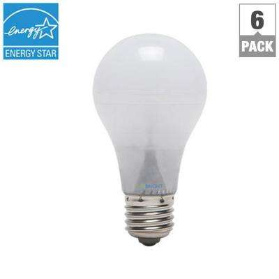 40W Equivalent Cool White (4000K) A19 Dimmable 90+ CRI LED Light Bulb (6-Pack)