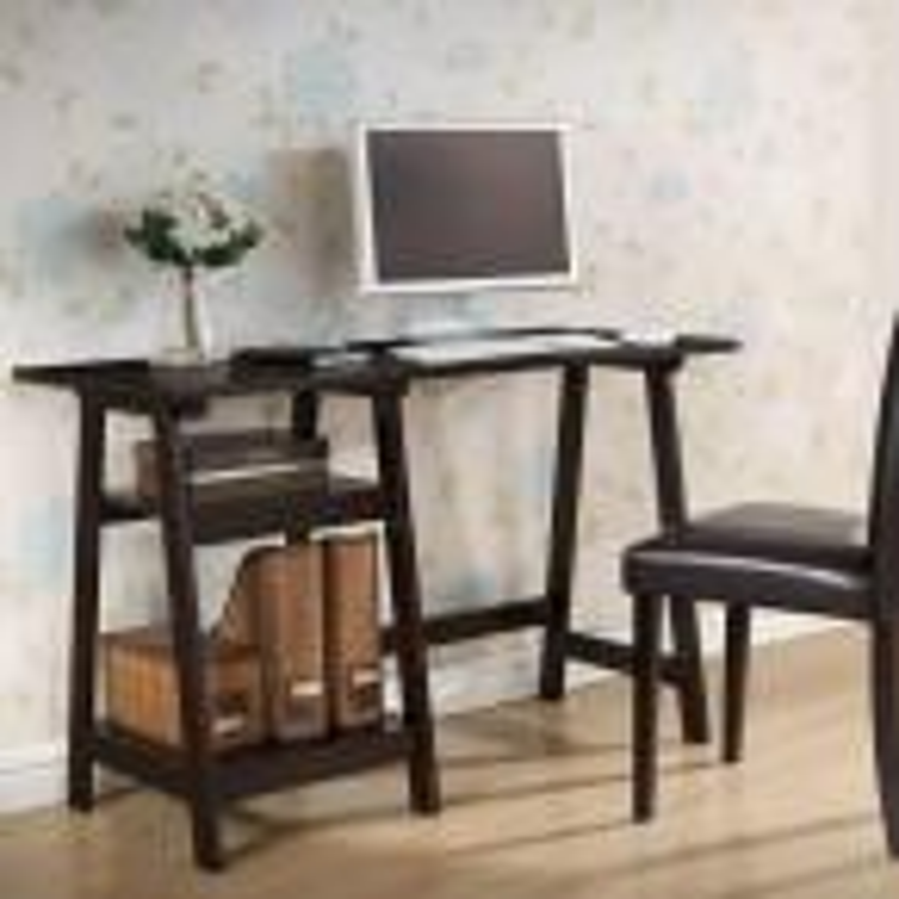 Baxton Studio Mott Dark Brown Desk