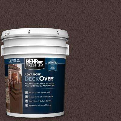 5 gal. #PFC-25 Dark Walnut Textured Solid Color Exterior Wood and Concrete Coating