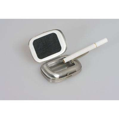 Preston Chrome Plated Rectangular Metal Pocket Ashtray