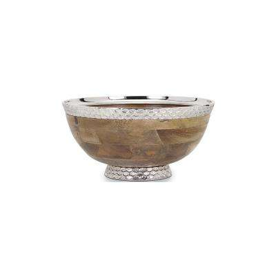Pedestal 7.5 in. Natural Decorative Bowl