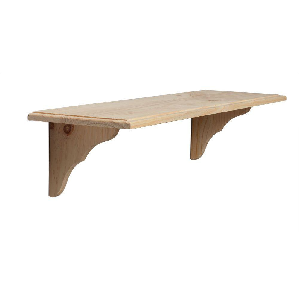 Knape & Vogt 9.5 in. x 35 in. Unfinished Decorative Shelf ...