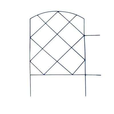 Small Lattice 18 in. Steel Garden Folding Fence