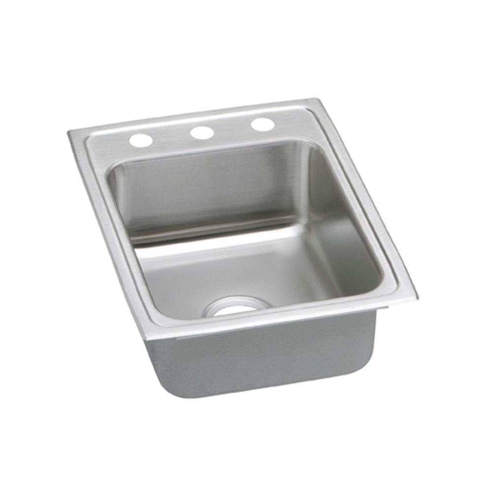 Celebrity Drop-In Stainless Steel 17 in. 3-Hole Single Bowl Kitchen Sink