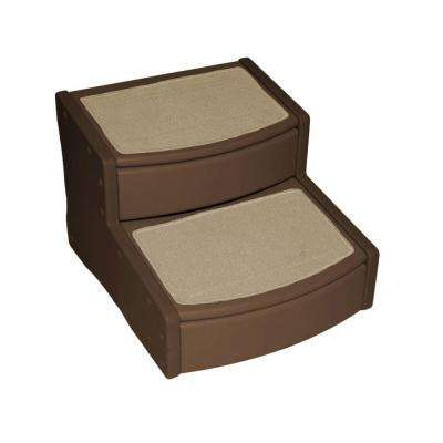 22 in. L x 20 in. W x 16 in. H Extra Wide Easy Steps II in Chocolate