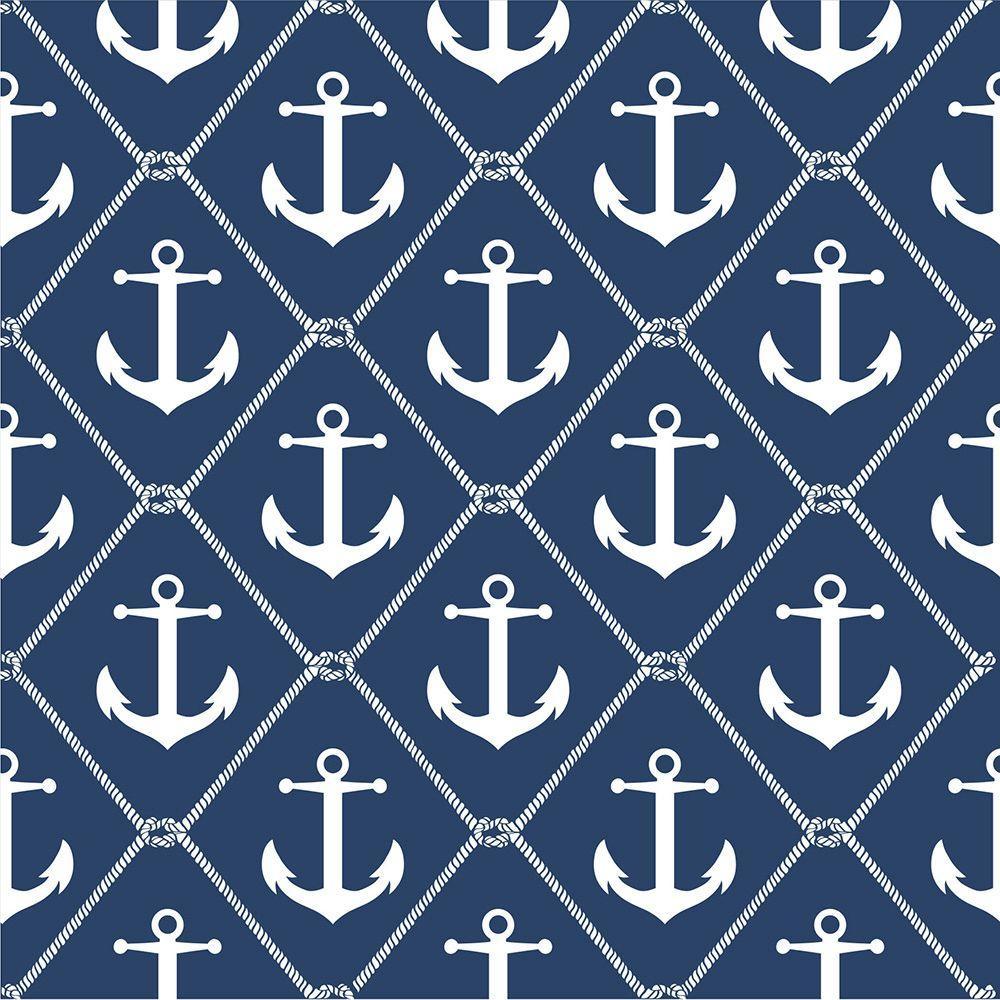Navy Set Sail Peel and Stick Wallpaper Sample