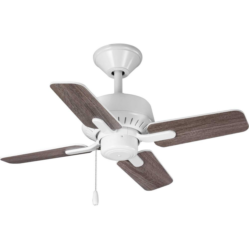 Progress Lighting Drift 32 In 4 Blade White Ceiling Fan