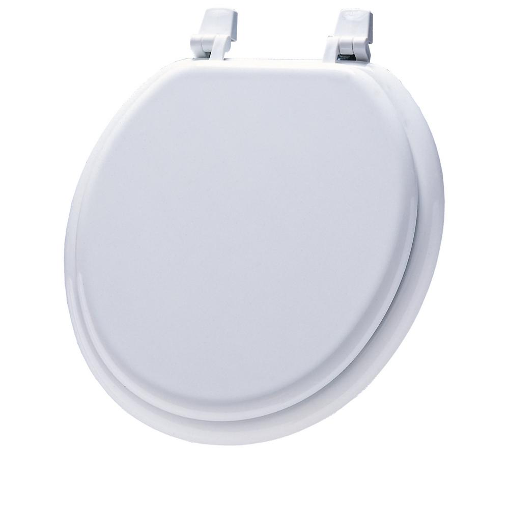 Cool Round Closed Front Toilet Seat In White Ibusinesslaw Wood Chair Design Ideas Ibusinesslaworg