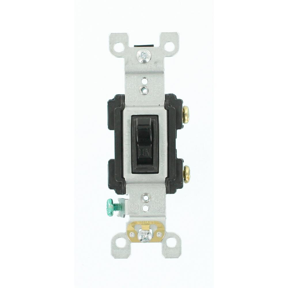 15 Amp Preferred Switch, Black
