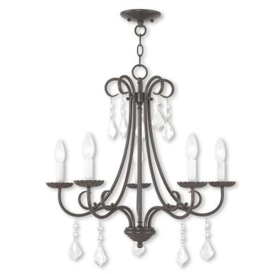 Daphne 5-Light English Bronze Chandelier