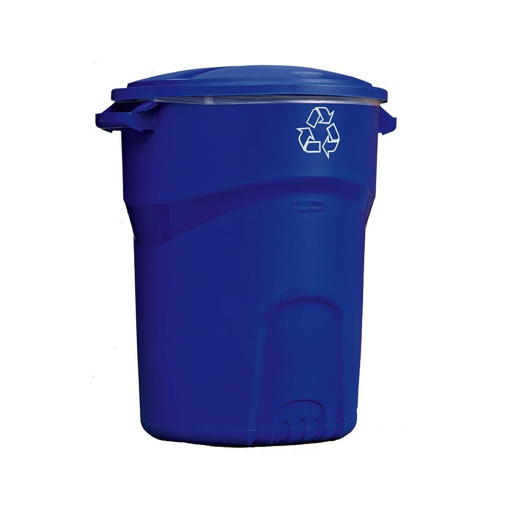 Rubbermaid Roughneck 32 Gal. Outdoor Recycling Bin  sc 1 st  The Home Depot & Rubbermaid Roughneck 32 Gal. Outdoor Recycling Bin-1792641 - The ...