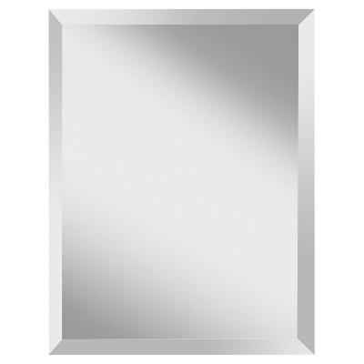 Infinity 22 in. W x 28 in. H Frameless Rectangle Glass Wall Decor Mirror with Beveled Edge and Dual Mounting Hooks