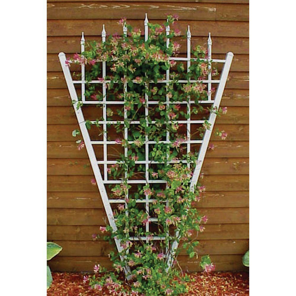 Dura-Trel 94 in. x 58 in. White Vinyl PVC Estate Trellis-11157 - The ...