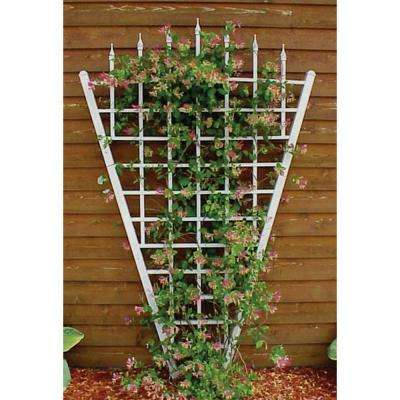 94 in. x 58 in. White Vinyl PVC Estate Trellis