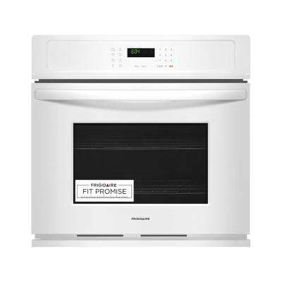 30 in. Single Electric Wall Oven, Self-Cleaning in White