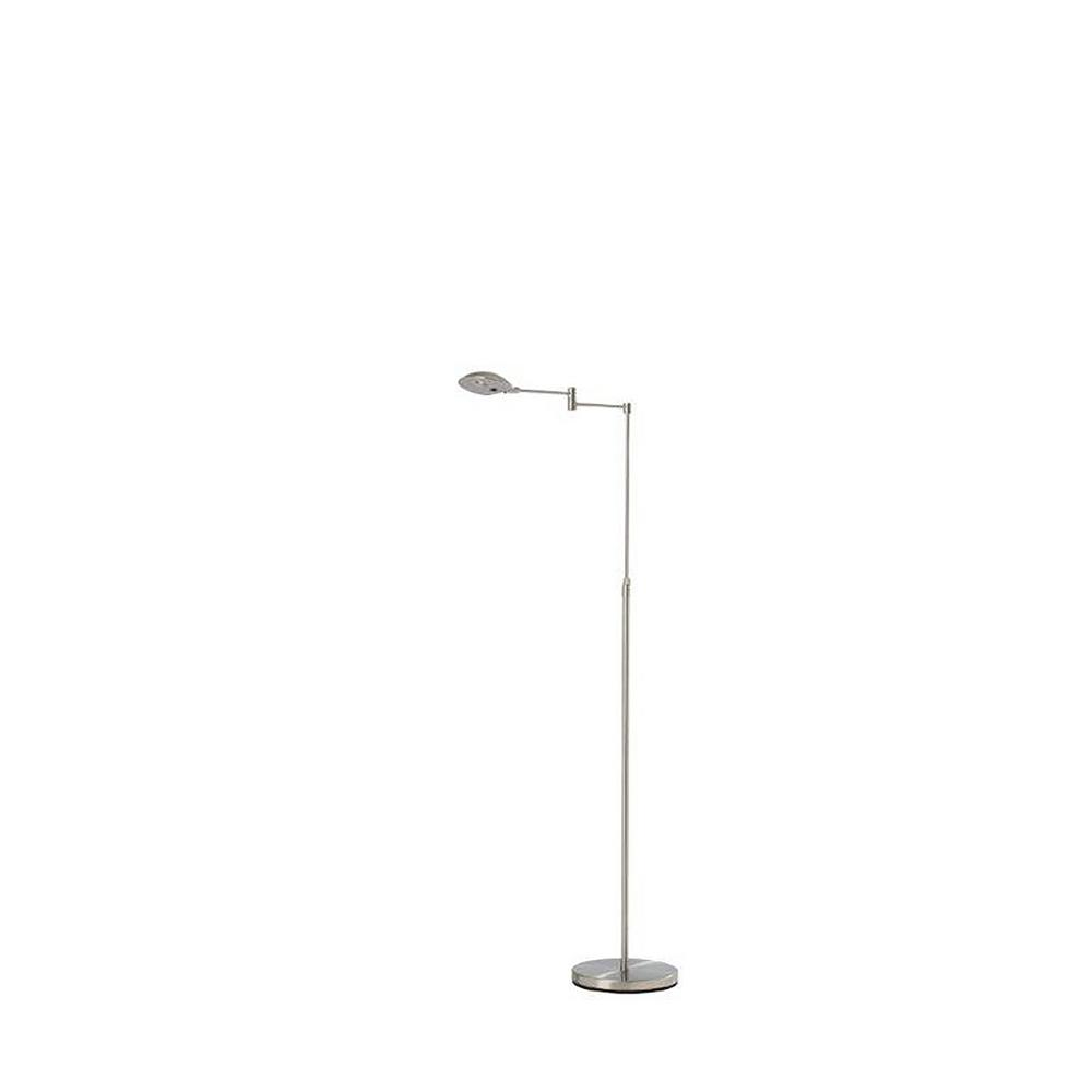 Ore International Luna 37 In 50 In Adjustable Satin Steel Led