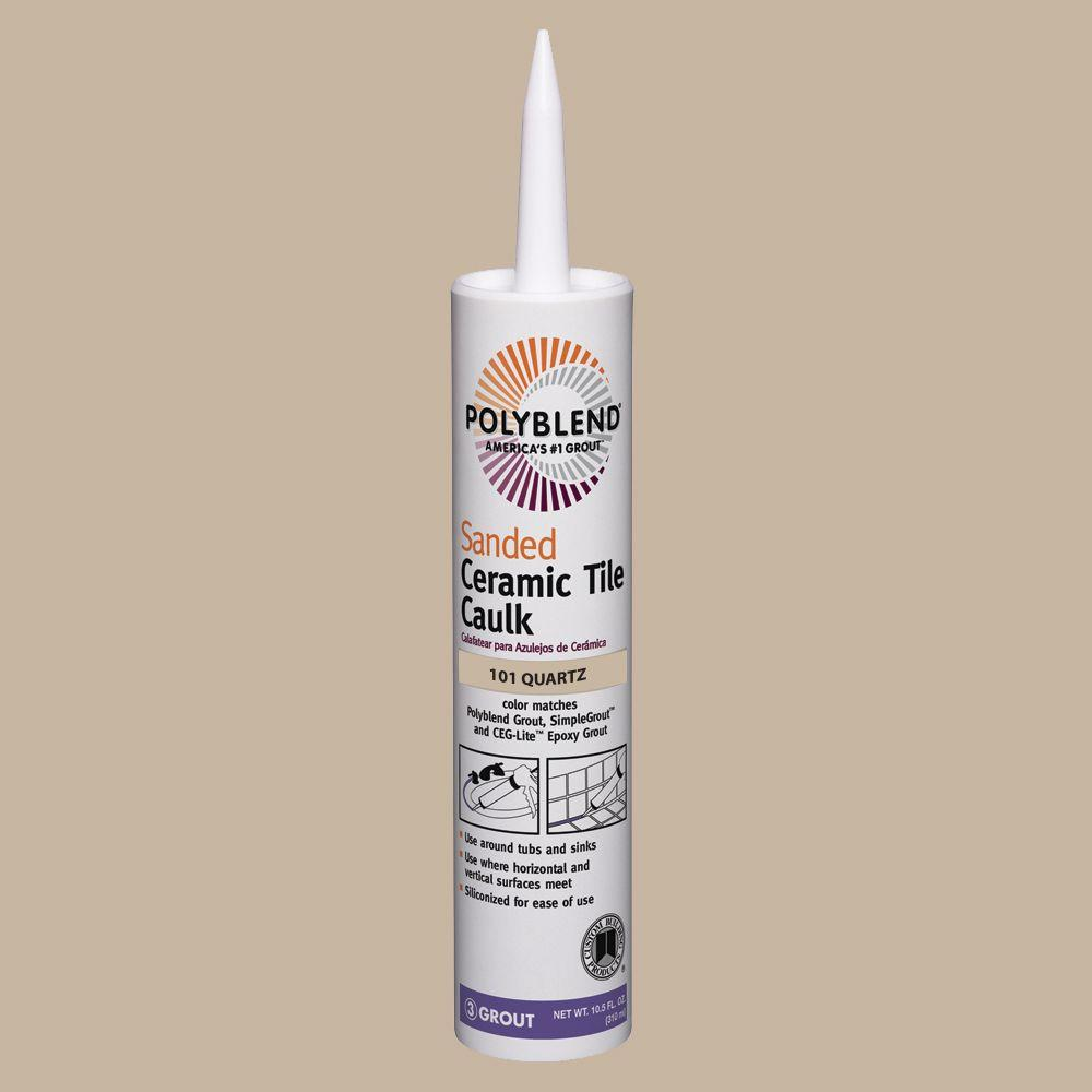 Custom Building Products Polyblend #101 Quartz 10.5 oz. Sanded Ceramic Tile Caulk