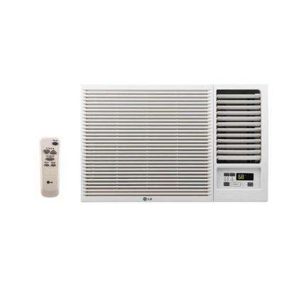 18,000 BTU 230/208-Volt Window Air Conditioner with Cool, Heat and Remote in White