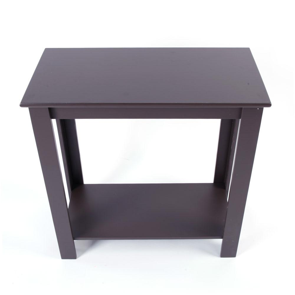 Simple Two Layer Bedside Cabinet Coffee Table Brown