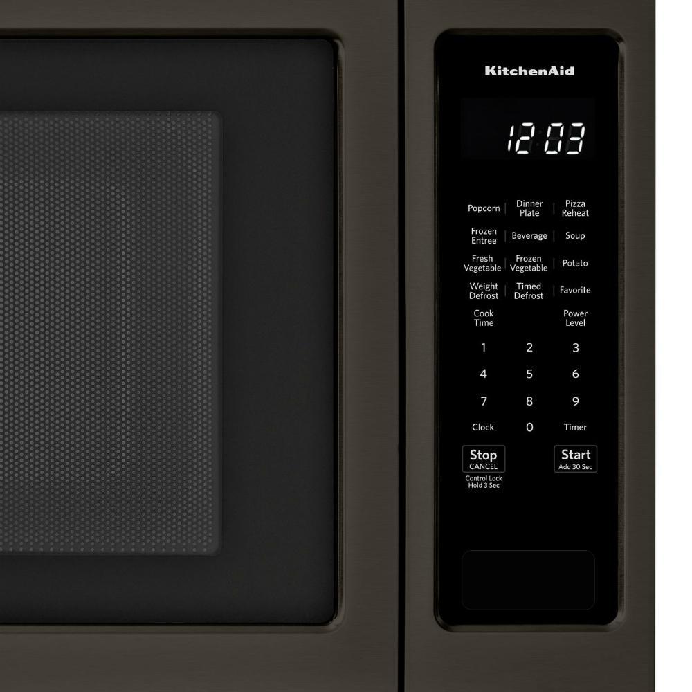 kitchenaid black stainless. store so sku #1002638935. kitchenaid 2.20 cu. ft. countertop microwave in black stainless kitchenaid