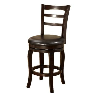 Southland 24 in. Espresso Transitional Style Bar Stool