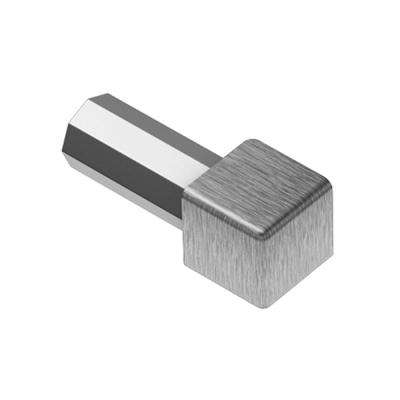 Quadec Brushed Stainless Steel 9/32 in. x 1 in. Metal Inside/Outside Corner
