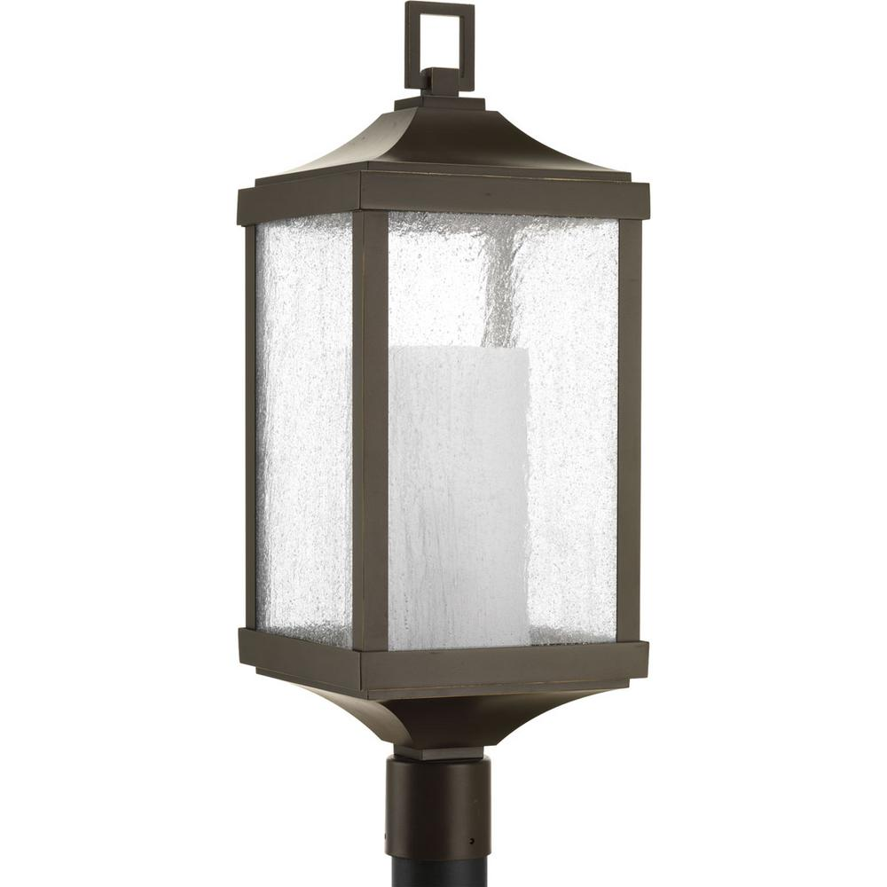 Devereux Collection 1-Light Outdoor Antique Bronze Post Lamp