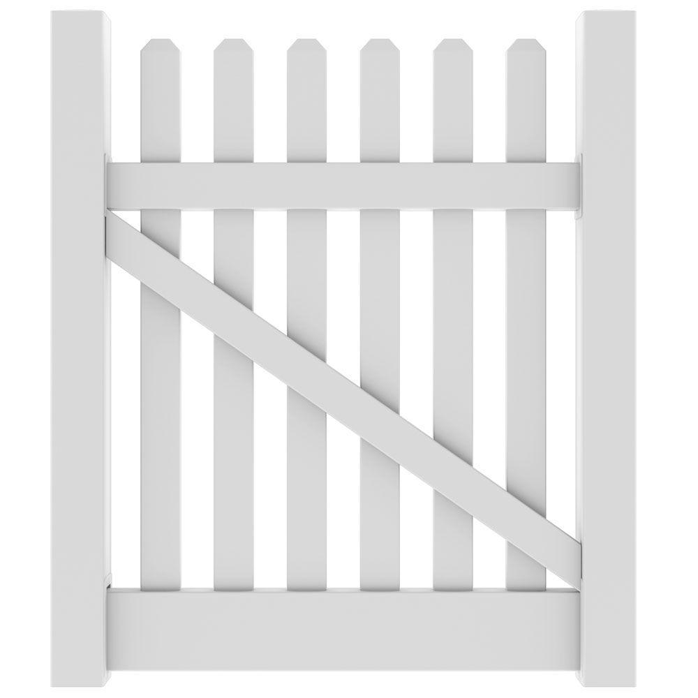 Veranda 4 ft. W x 4 ft. HKettle Straight White Walk Gate Kit