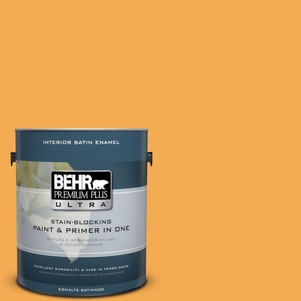 1-gal. #290B-6 Squash Satin Enamel Interior Paint