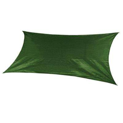 18 ft. x 10 ft. Olive Green Rectangle Ultra Shade Sail with Kit