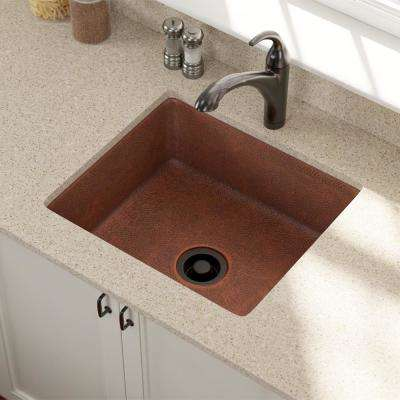Undermount Copper 25 in. Single Bowl Kitchen Sink