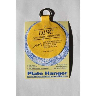 3 in. Invisible Disc Plate Hangers (10-Pack)
