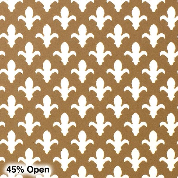 American Pro Decor 72 in. x 24 in. x 1/8 in. Unfinished Fleur-De-Lis Decorative Perforated Paintable MDF Screening Panel Insert