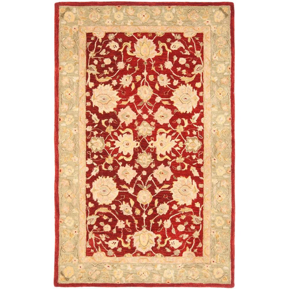 Safavieh Anatolia Red/Moss 6 ft. x 9 ft. Area Rug