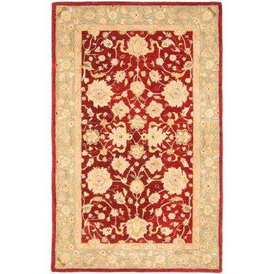 Anatolia Red/Moss 6 ft. x 9 ft. Area Rug