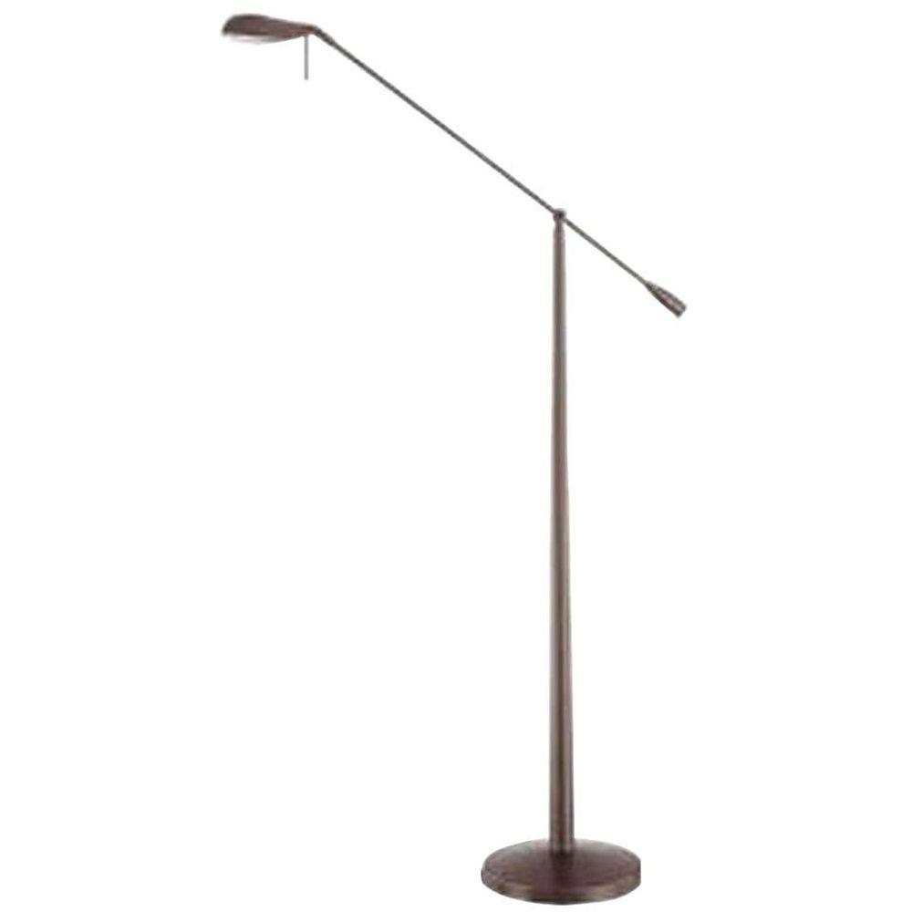 Kendal Lighting Cassiopeia 39.6 in. Satin Nickel Incandescent Floor Lamp