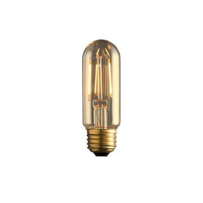 60W Equivalent Warm White T10 Amber Lens Vintage Radio Lamp Dimmable LED Light Bulb (2-Pack)