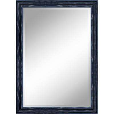 31 in. x 43 in. Antique Black Mirror in 1 in. Bevel with 3.5 in. Frame
