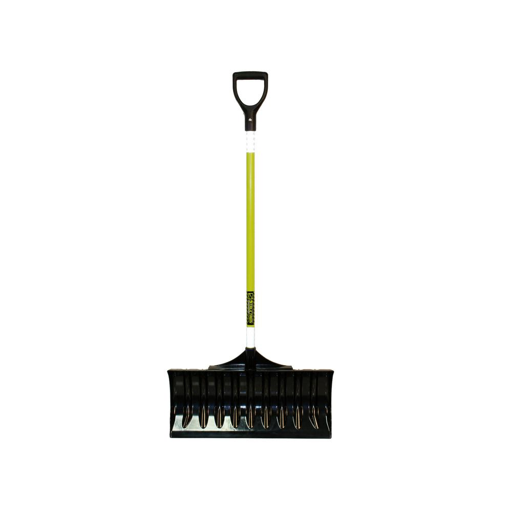 Structron 24 in. Poly/ABS Snow Pusher With 43 in. Reflective Fiberglass