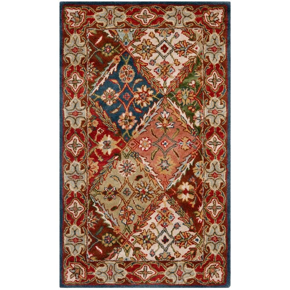 Heritage Green/Red 3 ft. x 5 ft. Area Rug